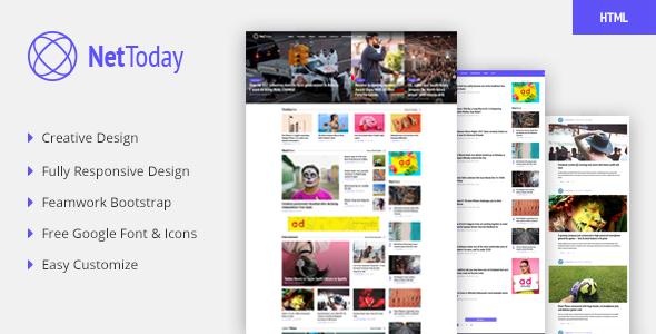 NetToday - Newspaper & Magazine HTML Template