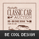 Classic Car Auction Flyer/Poster - GraphicRiver Item for Sale