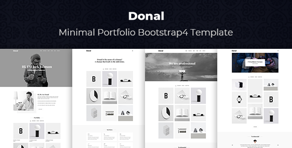 Donal - Minimal Portfolio Bootstrap 4 Template