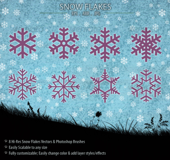 Snow Flakes - Decorative Symbols Decorative