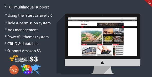 LaraMag - Laravel CMS, Magazine, CRUD generator, Modular & Theme, Role permission system - CodeCanyon Item for Sale