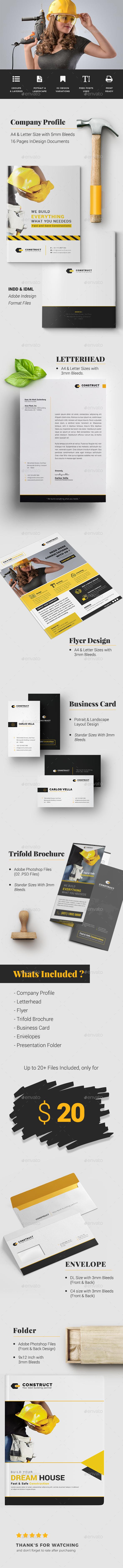 Construct Multipurpose Corporate Branding Identity - Print Templates