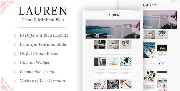 Lauren - Clean & Minimal WordPress Blog Theme - Blog / Magazine WordPress