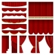 Red Blind Curtain Stage Isolated - GraphicRiver Item for Sale