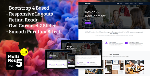 MultiRes5 - Responsive Multi-Purpose HTML Template