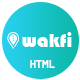 Wakfi - App Landing HTML5 Template - ThemeForest Item for Sale