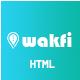 Wakfi - App Landing HTML5 Template - ThemeForest Item for Sale