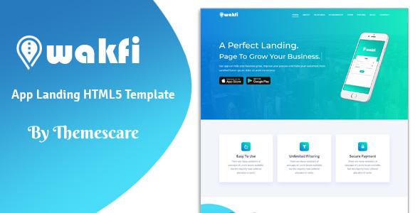 Wakfi - App Landing HTML5 Template