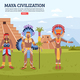 Maya Civilization Landscape Background - GraphicRiver Item for Sale