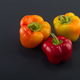 Sweet bell pepper on a colored background. Studio light. Top view - PhotoDune Item for Sale