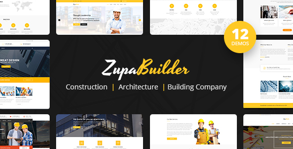 ZupaBuilder – Building and Architectural Joomla Template - Business Corporate