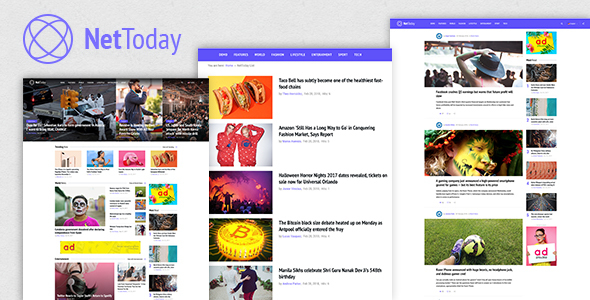 NetToday - Newspaper & Magazine Joomla Template - Blog / Magazine Joomla