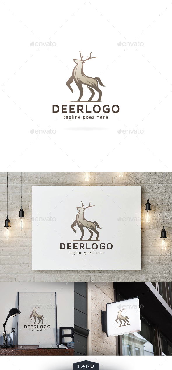 Dashing Deer Logo Template - Animals Logo Templates