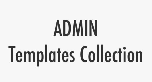 Admin Templates Collection