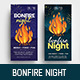 Bonfire Night DL Card - GraphicRiver Item for Sale