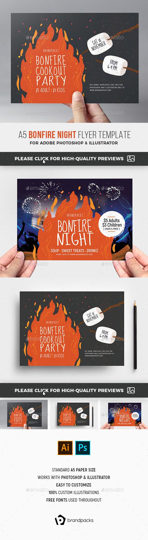 Bonfire Night Flyer - Holidays Events