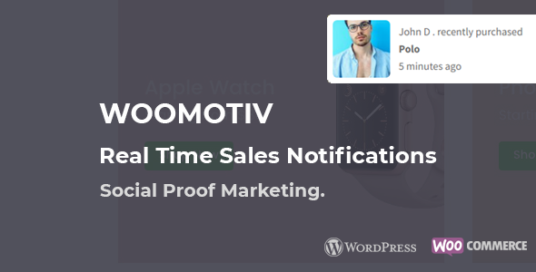 WooMotiv - WooCommerce Social Proof Notifications - Instantly Increases Conversion Rates