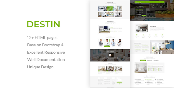 Destin | Real Estate Single Property HTML5 Template