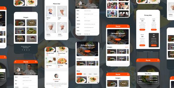 Aaem - Cafe & Restaurant Mobile Template