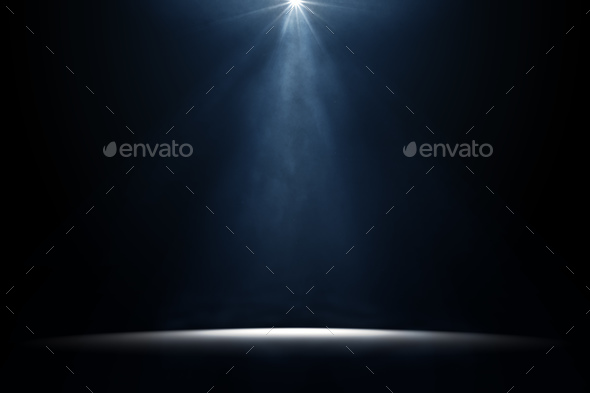 moody stage light background - Stock Photo - Images
