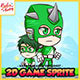 Hero Mask Green - 2D Game Character Sprites - GraphicRiver Item for Sale