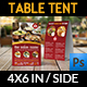 Indian Restaurant Table Tent Template Vol.2 - GraphicRiver Item for Sale