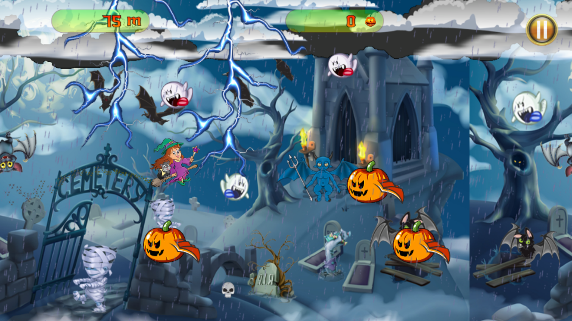 The Halloween Witch Adventure - Admob Banner & Interstitial (Android Studio) - 1