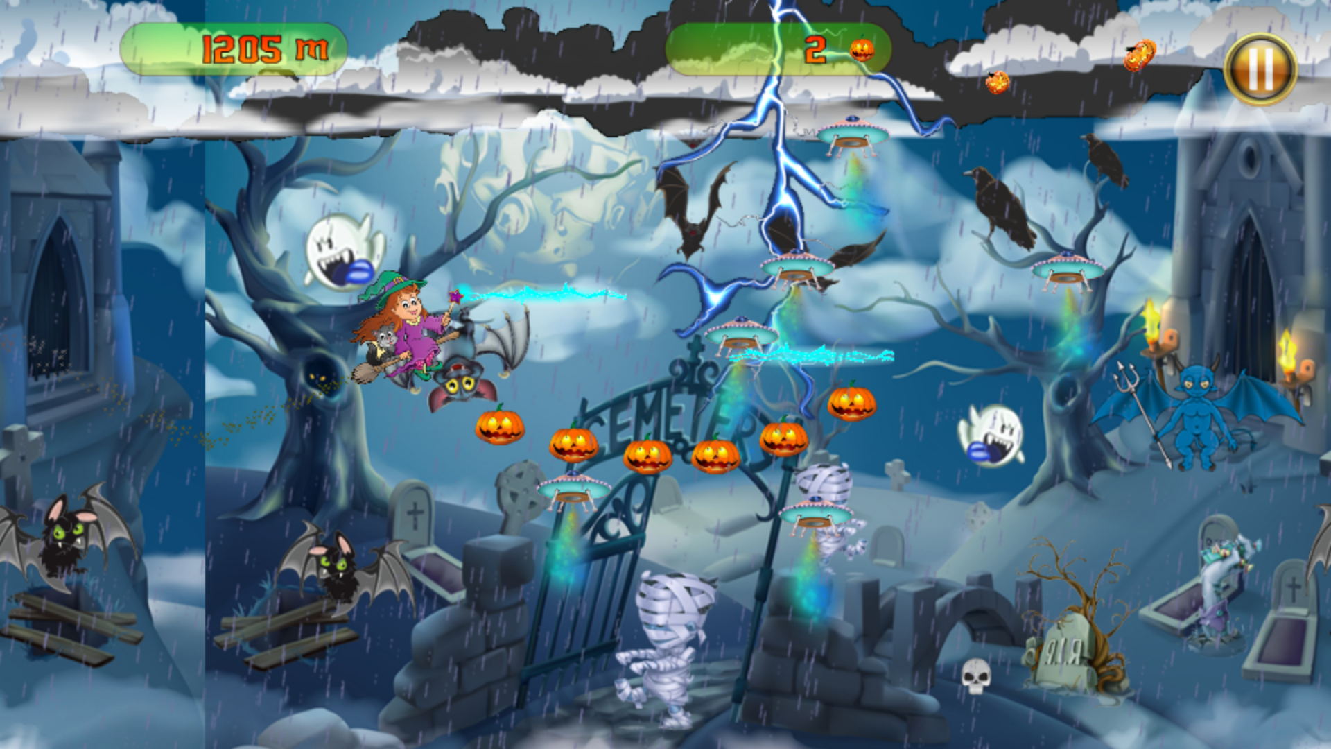 The Halloween Witch Adventure - Admob Banner & Interstitial (Android Studio) - 3