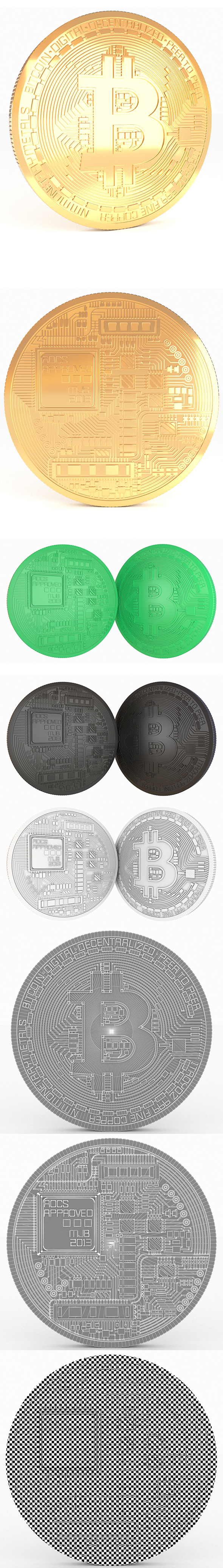 Bitcoin Realistic Detailed model - 3DOcean Item for Sale