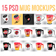 Photorealistic 15 PSD Mockup Mug Set - GraphicRiver Item for Sale