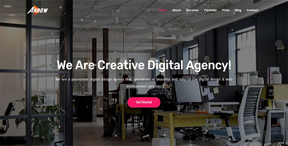Arrow - Creative One Page Parallax - Creative Site Templates