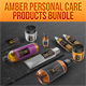 Amber Personal Care Products Set - GraphicRiver Item for Sale