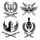Set of Emblems with Viking Ancient Weapon - GraphicRiver Item for Sale