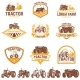 Set of Tractor Emblems - GraphicRiver Item for Sale