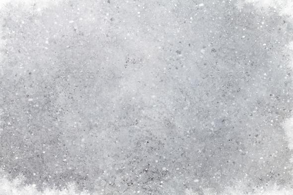 Christmas stone background with snow Stock Photo by karandaev | PhotoDune