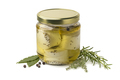 Jar with preserved white organic Dutch goat cheese and fresh her - PhotoDune Item for Sale