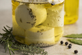Jar with preserved white organic Dutch goat cheese - PhotoDune Item for Sale
