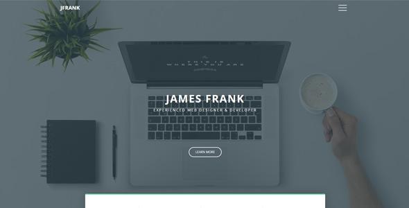 Frank - A Portfolio Website Template