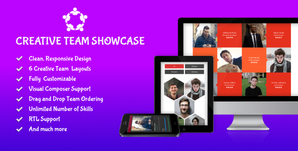 Creative Team Showcase for WordPress - CodeCanyon Item for Sale