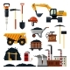 Coal Mining Icon Set Vector Isolated Illustration - GraphicRiver Item for Sale