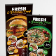 Restaurant Menu Roll Up Banner - GraphicRiver Item for Sale