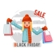Shopping Girl Black Friday Sale Bag Package - GraphicRiver Item for Sale