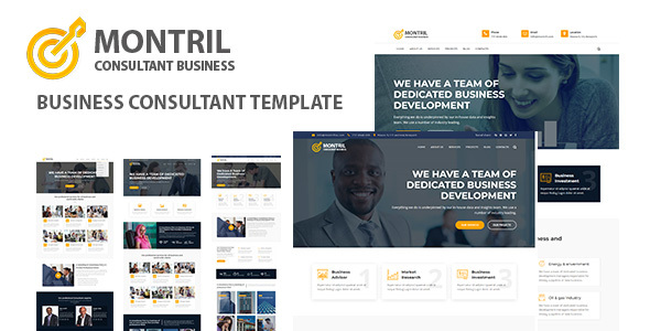 Montril - Consulting & Business HTML Template