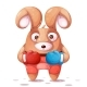 Sport Boxing Illustration Crazy Rabbit - GraphicRiver Item for Sale