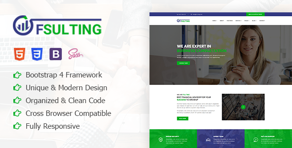 Fsulting - Finance Consulting Bootstrap 4 Template