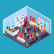 Isometric Holiday Shopping Template - GraphicRiver Item for Sale