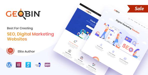 GeoBin | Social Media, Digital Marketing Agency, SEO WordPress Theme - Marketing Corporate