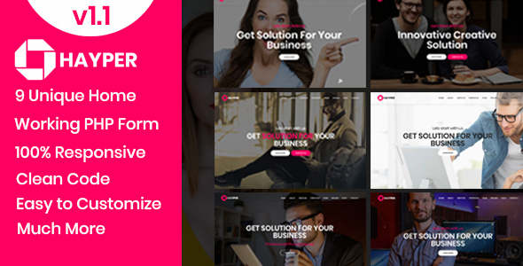 Hayper - Creative Onepage Multipurpose Template