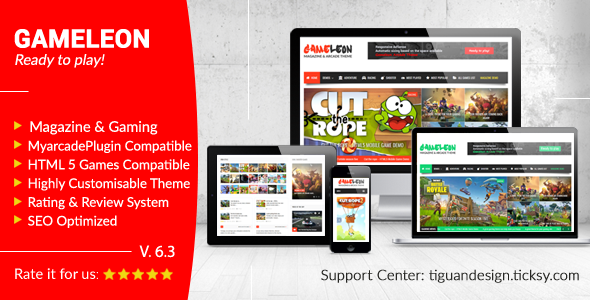 Gameleon - WordPress Arcade Theme & News Magazine - Entertainment WordPress