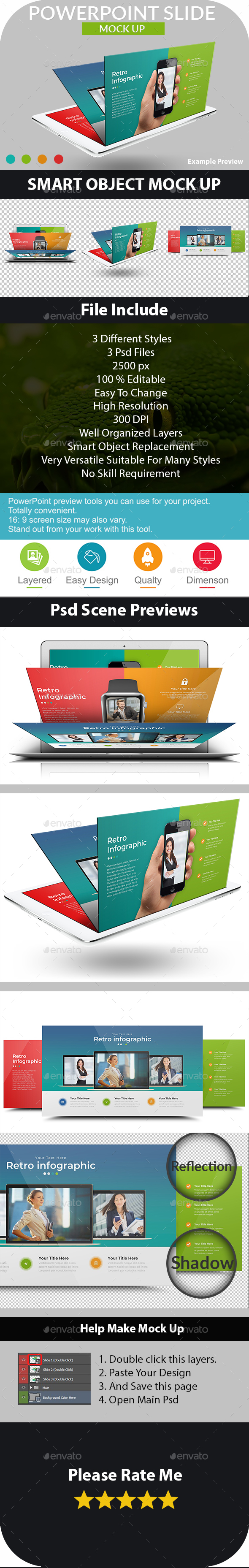 Powerpoint Slide Mockups - Presentation Mock up - Miscellaneous Displays